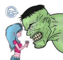 Marissa Lynn vs Hulk by LaughingGurl