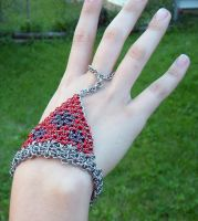 Triangles and Hexagons Flower by chainmaille