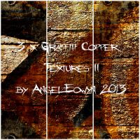 Graffiti Copper Texture Pack 2 by AngelEowyn