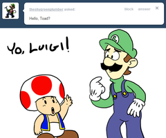 Tell Toad - Luigi Appears by pocket-arsenal
