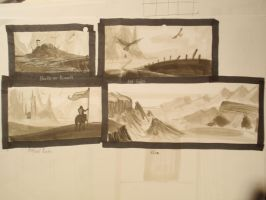 Beleriand landscapes thumbnails by Nialthstrasz