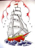 Sailor Jerry Ship Colored by onfire4Him