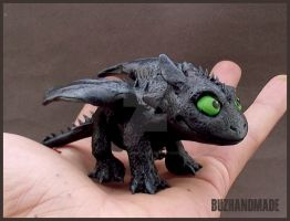 TOOTHLESS - Nightfury SuperDeformed by buzhandmade