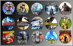 Game Icons XII by sirithlainion