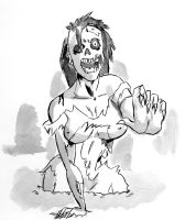 Inktober 08 - Zombie by Chauvels