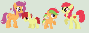 Scootabloom Family by unoriginaI