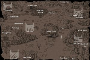 Clan Cat Map by WarriorsOfKin