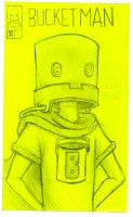 Post-It Bucket Man by DoomCMYK