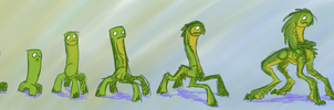 Creeper Studies by Wolframclaws