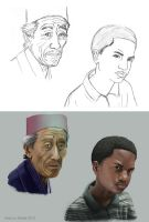 Face Studies by marcusmuller