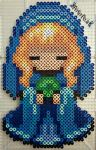 Blue Mannequin  Doll by PerlerPixie