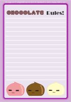 Chocolate Rules Stationary by CuteGio