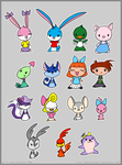 Chibi Tiny Toons by MeckelFoxStudio