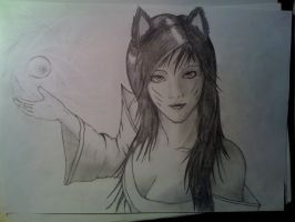 League of legends : Ahri by tterrazzznew