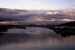 Port Of Portland OR Over The Willamette River by designerfied