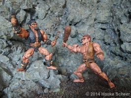 3D printed cavemen - new fight A by hauke3000