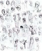 Harry Potter School Doodles by felegund