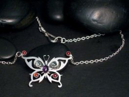 butterfly necklace by tinkerSue
