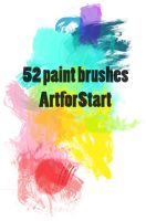 52 paintbrushes by ArtforStart