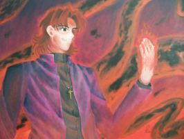 Kotomine Kirei Oil on Canvas by Eric-Abillama