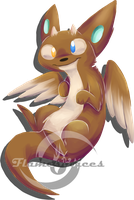 Trinity Otter Dragon by FlamesVoices