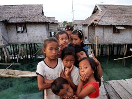 Bajau village by ZephyraMilie