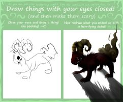Draw w/ your eyes closed by Kenny-BS
