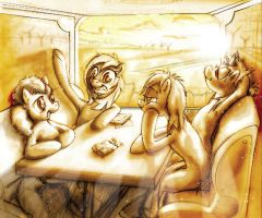 Terdy with friends - Road to Adventure by Terkatoriam