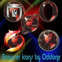 Browser Dock Icons by 0dd0ne