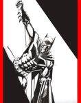 Batman chilling on a line by apvmiciano