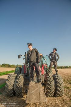 Men. On tractors by hmcindie