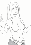 Raven Outlines without Hood by Architeuthis-Senpai