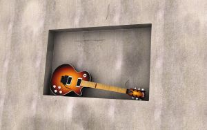 Les Paul on the Wall by cheyrek