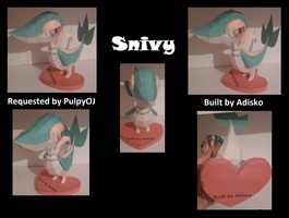 Snivy Pokemon Papercraft by Adisko