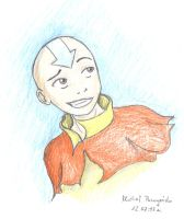 Aang portrait by Xpuk
