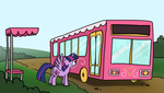 Alicorn Day 4 - Bus Stop by petirep
