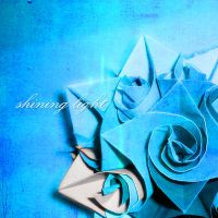 shining light - origami flower by StreuneKatze