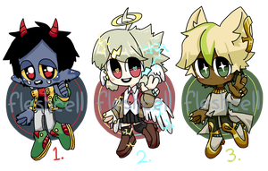 [CLOSED] CHIBI AUCTION ADOPT PILE by fleshcell