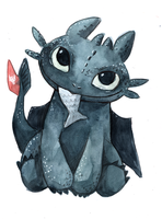 Chibi Toothless by Lamby-J