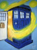 Doctor Who: the Magical Blue Box (Van Gogh Style) by Skye-Jones
