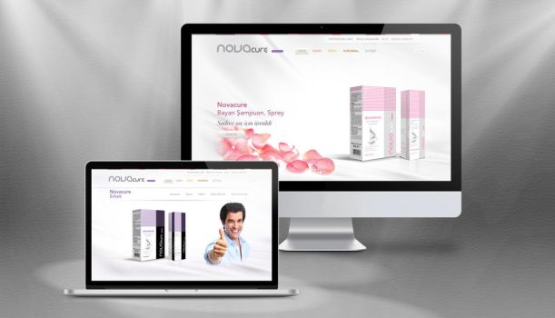 Novacure Cosmetics Website Concept by grafiket