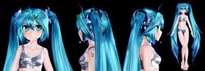 Hatsune Miku - WIP by GS-Mantis