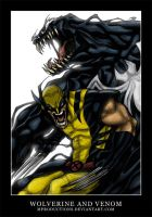 Wolverine and Venom by mproductions