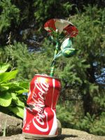 Coke Can Rose - 'Torn' 2 by Christine-Eige