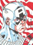Captain America sketch card by kwbldr5