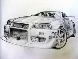 NissanSKYLINE FINALLY FINISHED by Soniyani