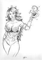 Poison Ivy Inked by irongiant775