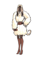transparent Afghan Hound Girl by MommaCabbit