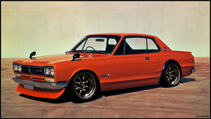 Nissan Skyline 2000 GTR  (Original image below) by xCustomGraphix
