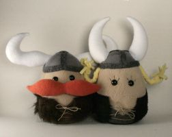 Viktor and Olga Vikings Plush by Saint-Angel